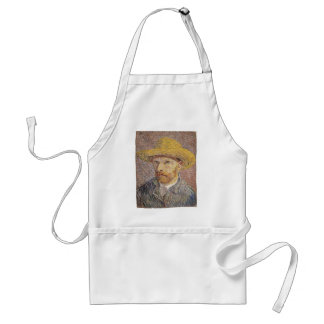 Self-Portrait with a Straw Hat - Van Gogh Standard Apron