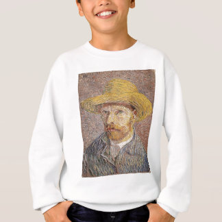 Self-Portrait with a Straw Hat - Van Gogh Sweatshirt