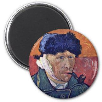 Self-Portrait With Bandaged Ear By Vincent Van Gog Magnet