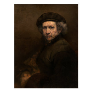 Self-Portrait with Beret by Rembrandt Postcard