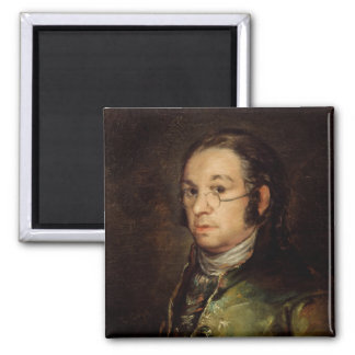 Self Portrait with Glasses, 1788-98 Square Magnet