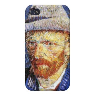 Self Portrait with Grey Felt Hat Vincent Van Gogh iPhone 4 Cases