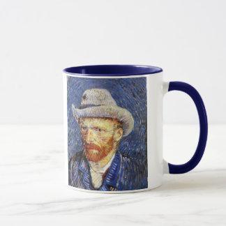 Self Portrait with Grey Felt Hat, Vincent Van Gogh Mug
