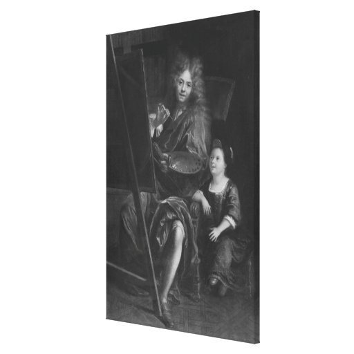 Self portrait with his son Charles Gallery Wrap Canvas
