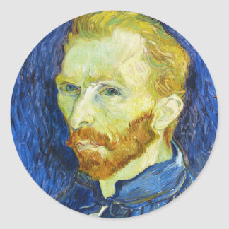 Self Portrait with Pallette vincent van gogh Round Sticker
