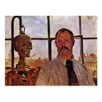 Self-Portrait With Skeleton By Corinth Lovis (Best Postcard
