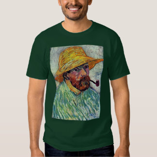 Self-Portrait With Straw Hat By Vincent Van Gogh T Shirt