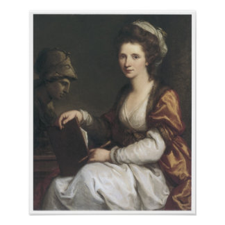 Self-Portrait with the Bust of Minerva 1780 Print