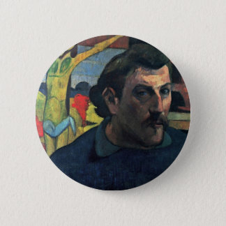 Self-Portrait With Yellow Christ By Gauguin Paul 2 Inch Round Button