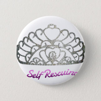 Self Rescuing Princess 2 Inch Round Button