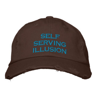 self serving illusion embroidered hat