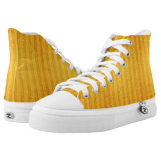 Self-striped Golden Yellow High Tops