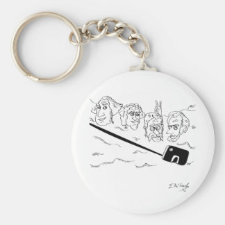 Selfie Cartoon 9342 Basic Round Button Keychain