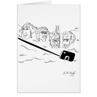 Selfie Cartoon 9342 Card