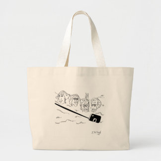 Selfie Cartoon 9342 Large Tote Bag