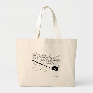 Selfie Cartoon 9342 Large Tote Bag