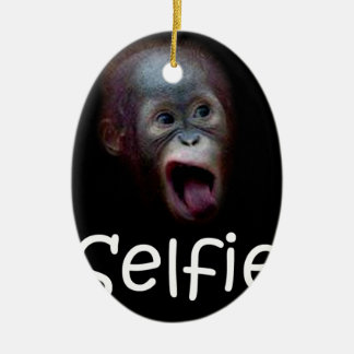 Selfie Ceramic Oval Ornament