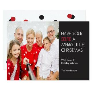 """Selfie Christmas Card 5"""" X 7"""" Invitation Card"""