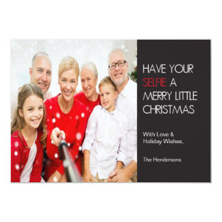 "Selfie Christmas Card 5"" X 7"" Invitation Card"