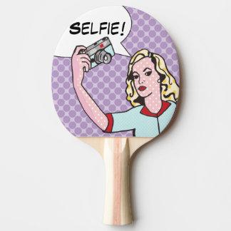 Selfie Comic Book Ping Pong Paddle