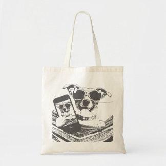 selfie dogs tote bag