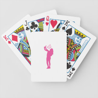 Selfie Girl Graphic Bicycle Playing Cards