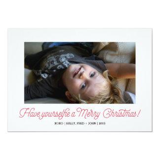 "Selfie Holiday Photo Card 5"" X 7"" Invitation Card"
