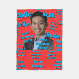 Selfie Image Template Fleece Blanket