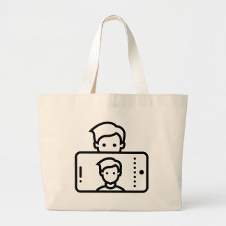 Selfie Large Tote Bag
