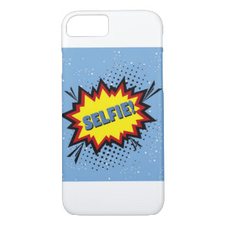 Selfie pop art design, cartoon style, retro iPhone 8/7 case