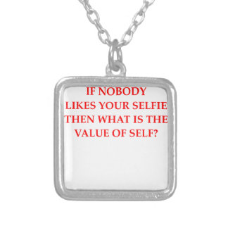SELFIE SILVER PLATED NECKLACE