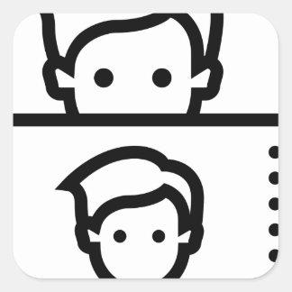 Selfie Square Sticker