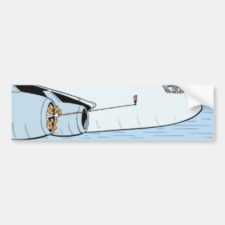 Selfie Stick Cartoon Aviation Bumper Sticker