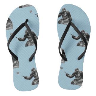 selfie stick shoes sandals flip flops