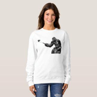 Selfie stick womens sweatshirt