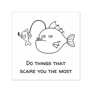 Selfie with Anglerfish Confudence Quote Self-inking Stamp