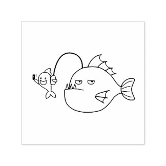 Selfie with Anglerfish Self-inking Stamp