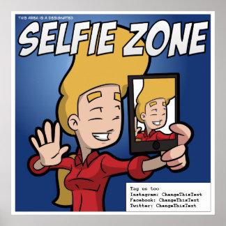 Selfie Zone Poster (customizable)