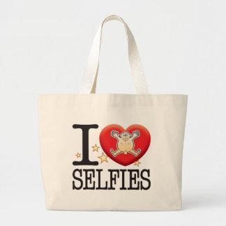 Selfies Love Man Jumbo Tote Bag
