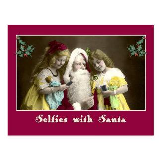 Selfies with Santa Cute Christmas Card