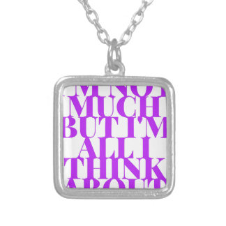 Selfish Sobriety Detox Drunk Fellowship Silver Plated Necklace