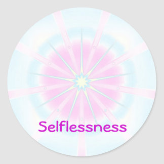 Selflessness (Virtue sticker) Round Sticker