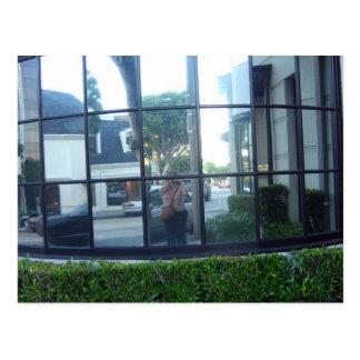 selfportrait in squares postcard