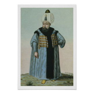 Selim II (1524-74) called 'Sari', the Blonde or th Poster