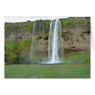 Seljalandsfoss Waterfall in Iceland greeting card