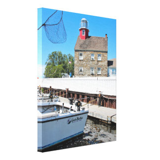 Selkirk Lighthouse, New York Wrapped Canvas