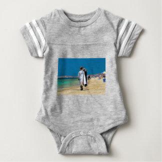 Seller on the beach baby bodysuit