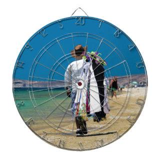 Seller on the beach dartboard