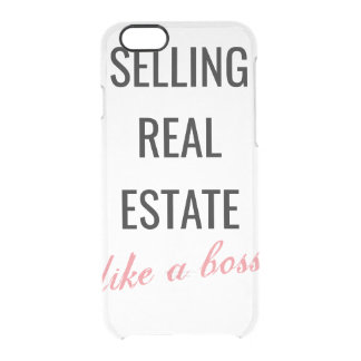 SELLING REAL ESTATE LIKE A BOSS 👑 CLEAR iPhone 6/6S CASE