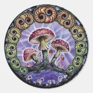 sello classic round sticker